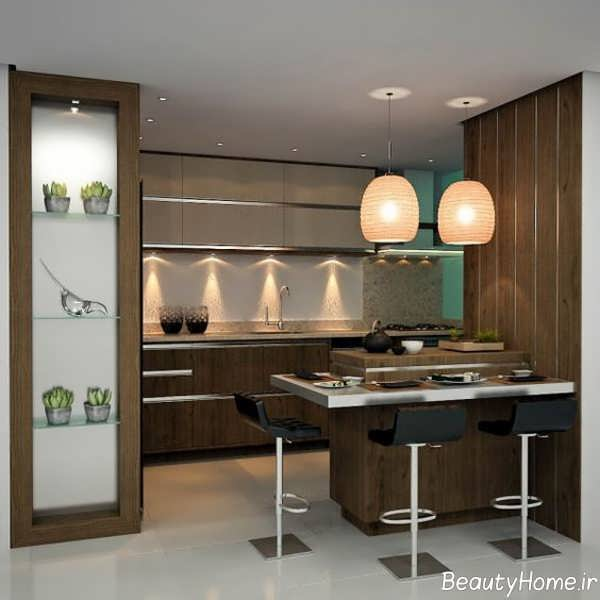 دیزاین آشپزخانه کوچک آپارتمانی