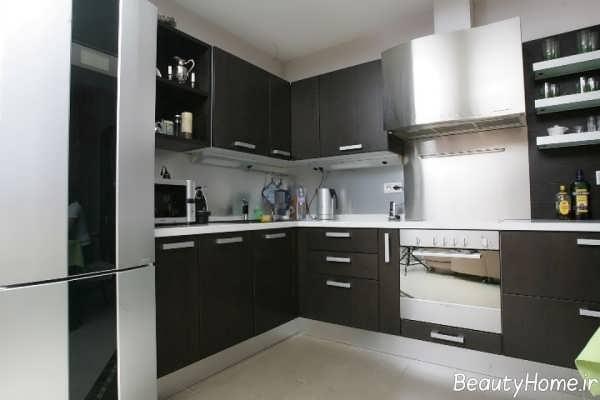 مدل کابینت تیره آشپزخانه