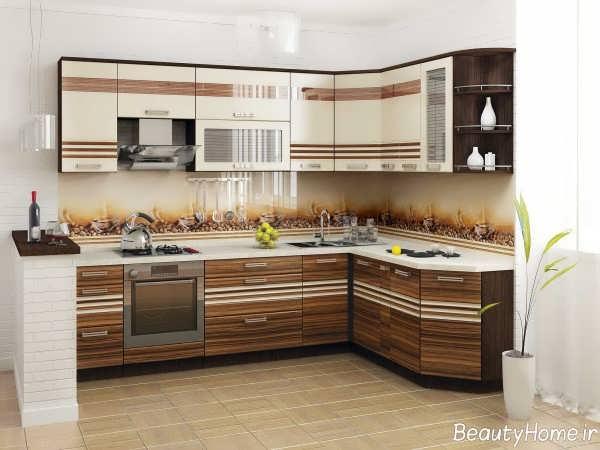 مدل کابینت طرح دار آشپزخانه
