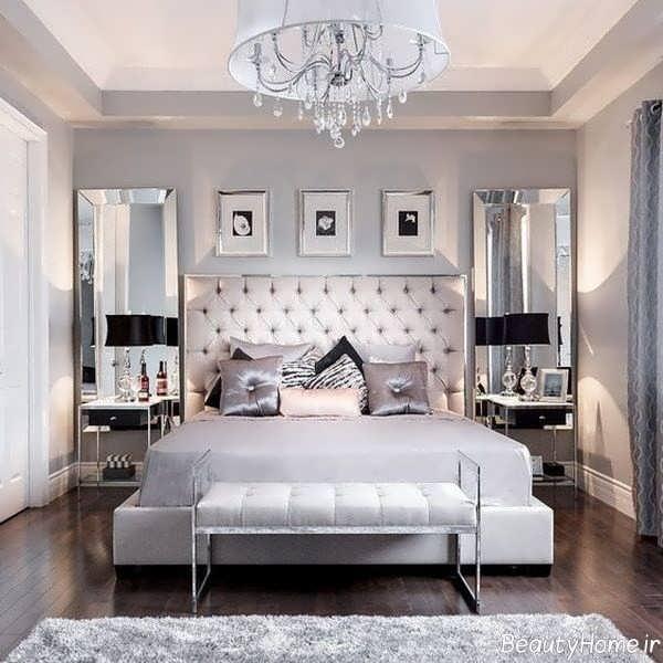 دکوراسیون اتاق خواب سلطنتی با طراحی لاکچری و شیک