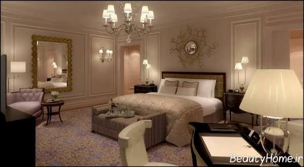 دکوراسیون زیبا و سلطنتی اتاق خواب