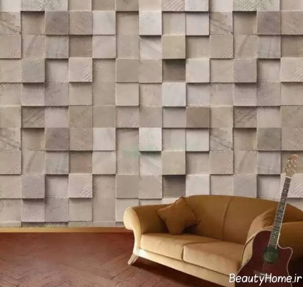 کاغذ دیواری سه بعدی شیک و مدرن