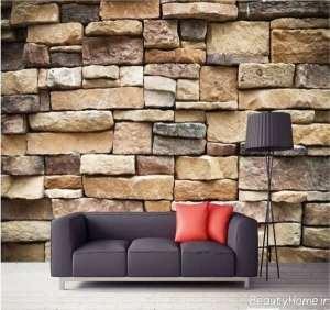 مدل کاغذ دیواری طرح سنگ