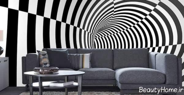 کاغذ دیواری های سه بعدی شیک و زیبا