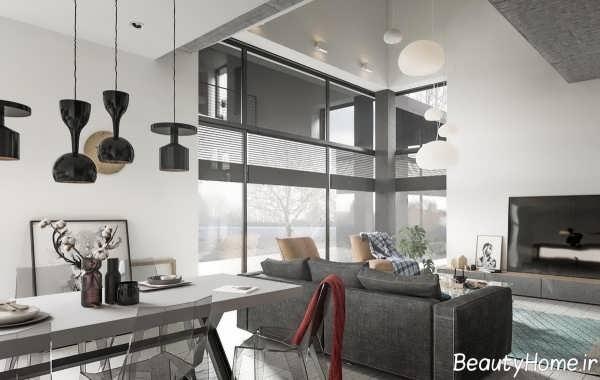 طراحی دکوراسیون خانه زیبا و مدرن