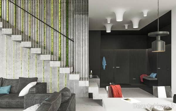 طراحی داخلی خانه آپارتمانی مدرن و شیک