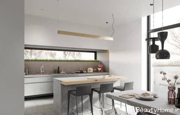 دیزاین زیبا و شیک آشپزخانه