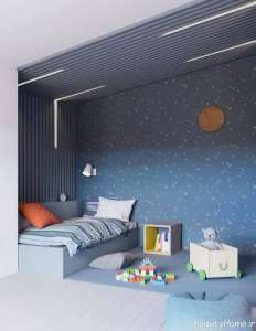 دکوراسیون اتاق خواب آبی