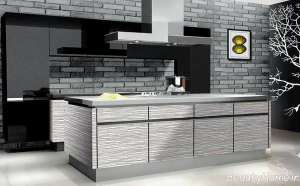 مدل کابینت آشپزخانه خاکستری