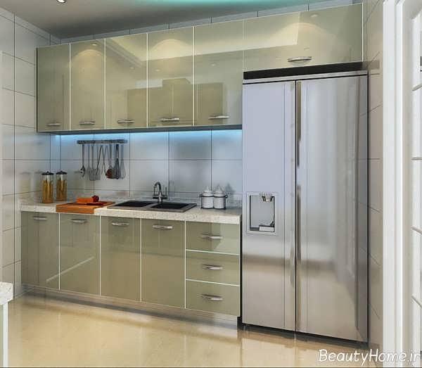 مدل کابینت رنگ روشن برای آشپزخانه