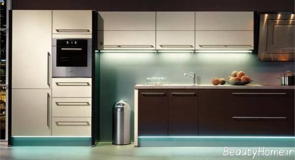 مدل کابینت آشپزخانه رنگ روشن