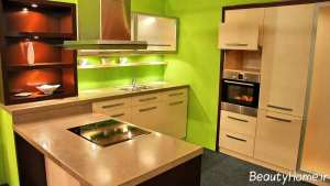 مدل کابینت رنگ روشن آشپزخانه