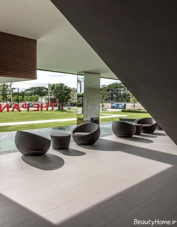 طراحی محوطه خانه ویلایی