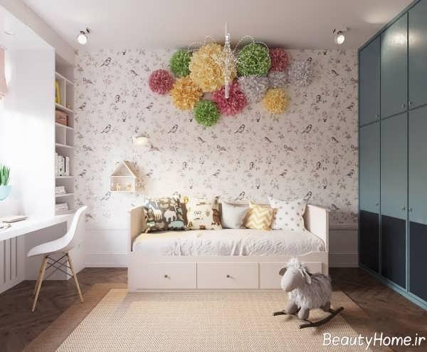 طراحی داخلی اتاق کودک دخترانه