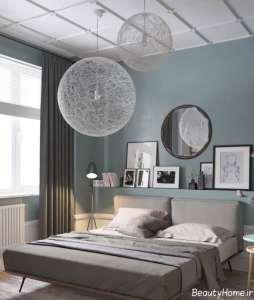 دکوراسیون اتاق خواب دو نفره زیبا و مدرن