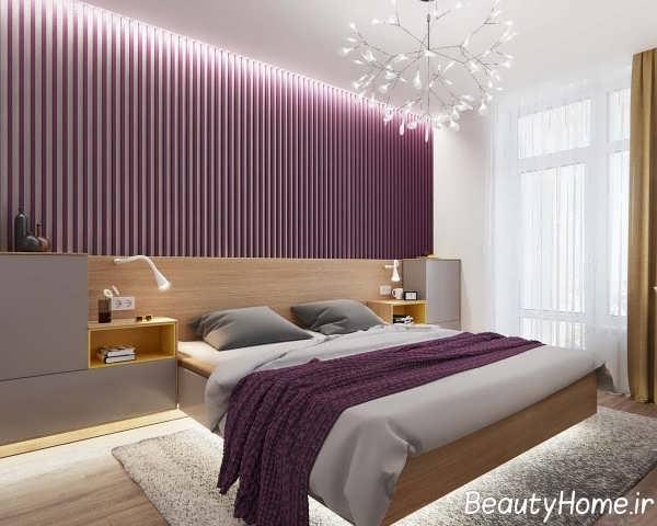 طراحی فضای داخلی اتاق خواب آپارتمان کوچک