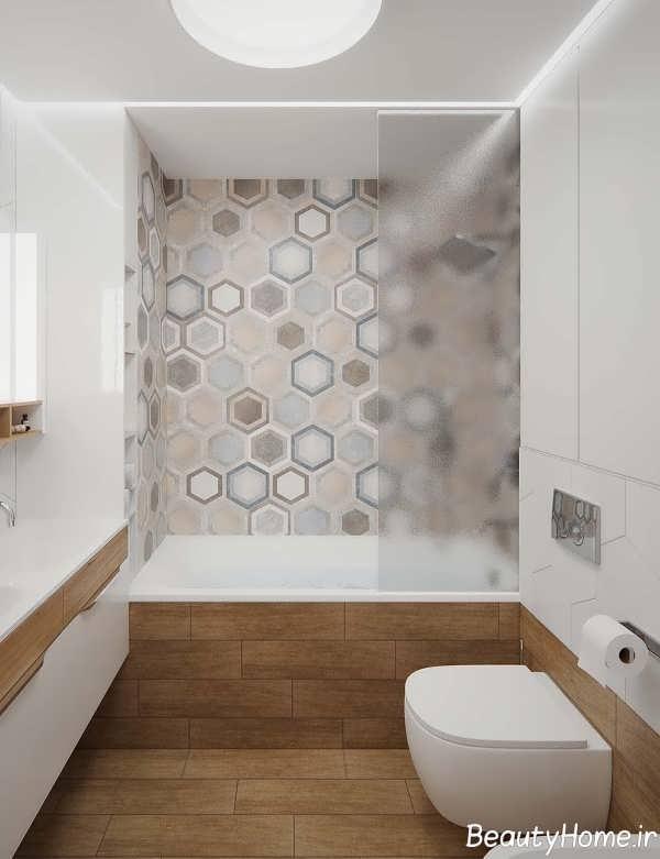 طراحی فضای داخلی حمام آپارتمان کوچک