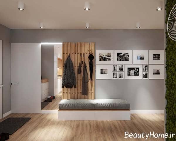 طراحی شیک ورودی آپارتمان