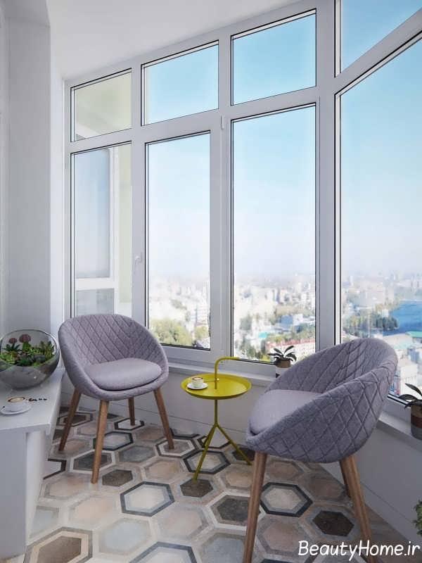 طراحی عالی فضای داخلی بالکن آپارتمان