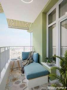 طراحی فضای داخلی بالکن آپارتمان کوچک