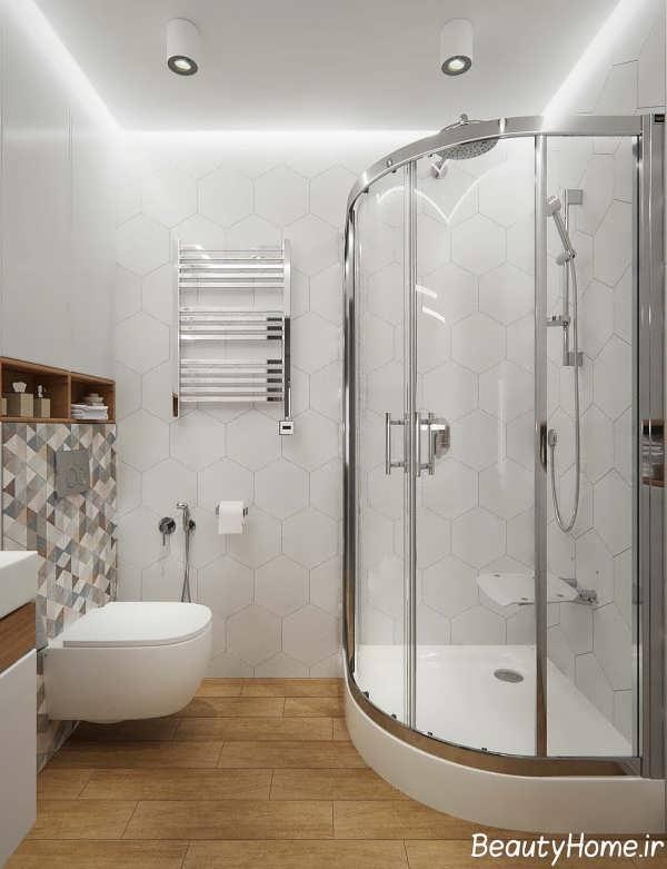 طراحی شیک فضای داخلی حمام آپارتمان