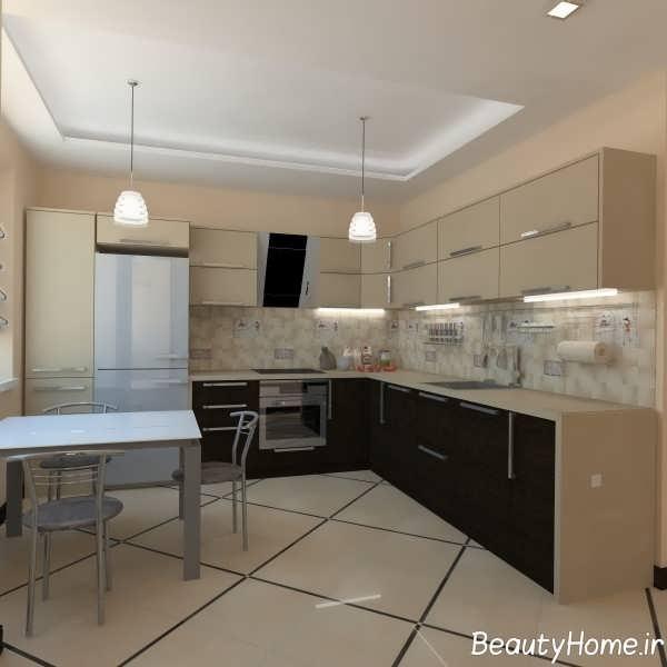 دکوراسیون لاکچری آشپزخانه