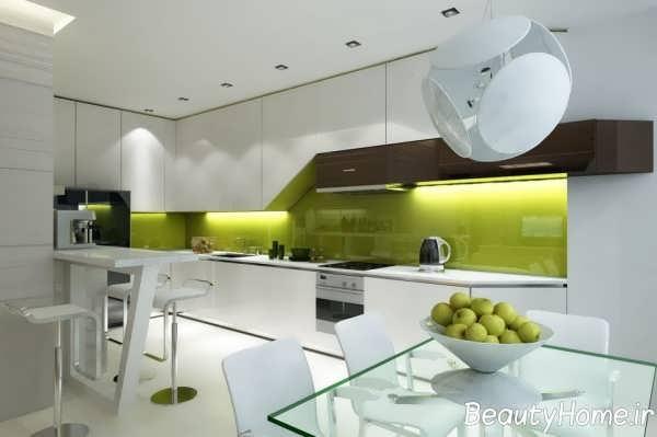 دکوزاسیون عالی فضای داخلی آشپزخانه