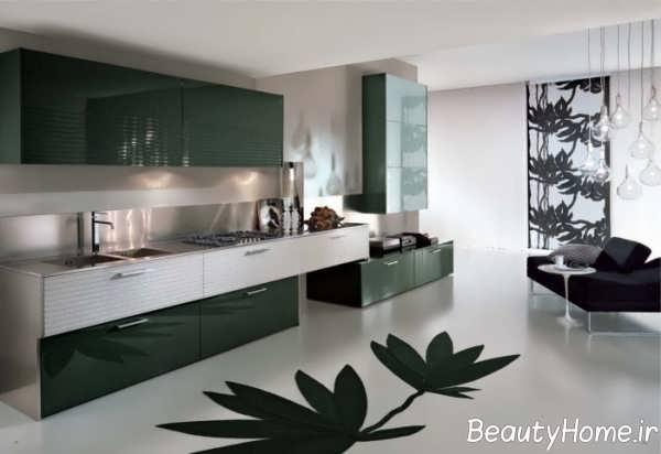 طراحی لاکچری آشپزخانه
