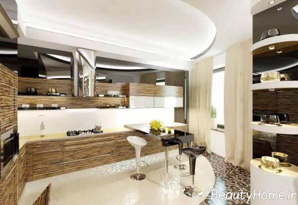 دکوراسیون نوین و متفاوت فضای داخلی آشپزخانه