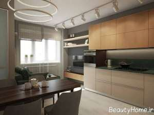 دکوراسیون لاکچری فضای داخلی آشپزخانه