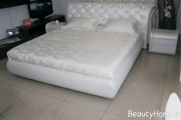 مدل تخت خواب جدید با تم سفید