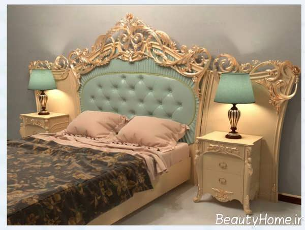 طرح سنتی تخت خواب دو نفره