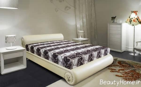 مدل تخت خواب دو نفره با قاب متفاوت و شیک