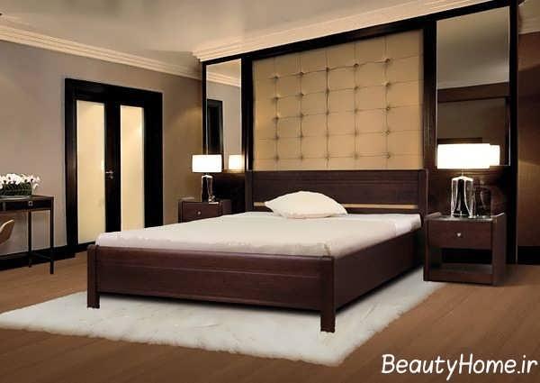 مدل تخت خواب دو نفره ام دی اف