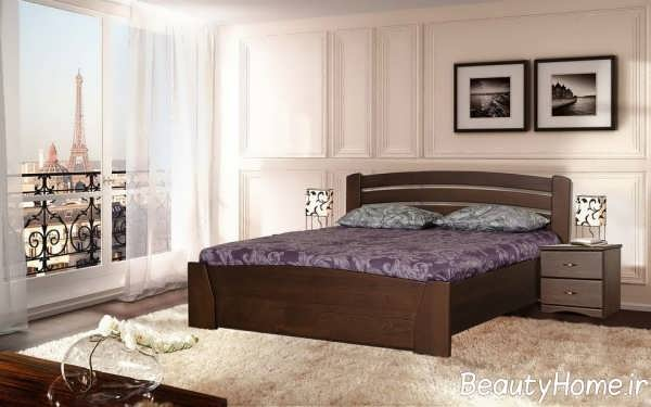 تخت خواب دو نفره به سبک سنتی