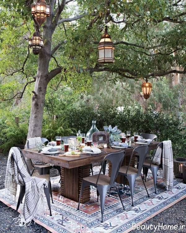 مدل صندلی ناهار خوری فضای باز