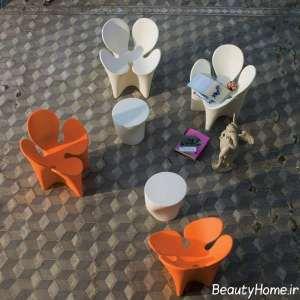مدل صندلی شبدری فضای باز