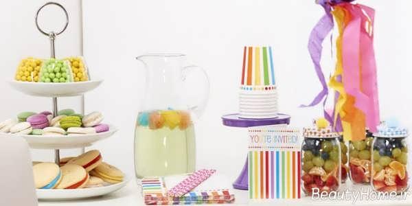 تزیین خاص و زیبا تولد با تم رنگین کمان