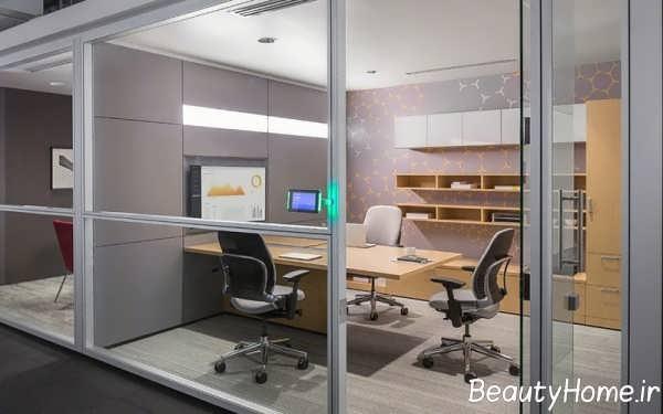 طراحی مدرن فضای اداری کوچک