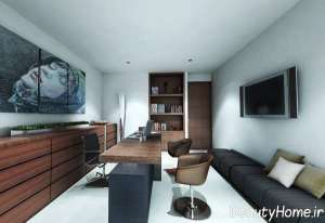 طراحی شیک فضای داخلی اداری