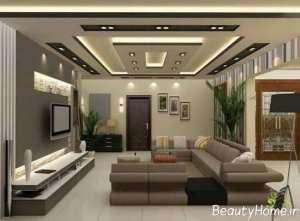 طراحی فضای داخلی اتاق نشیمن به سبک مدرن