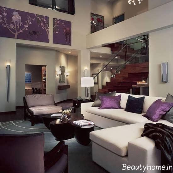 طراحی مدرن فضای داخلی اتاق پذیرایی