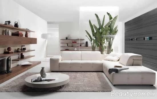 طراحی فضای داخلی مدرن اتاق پذیرایی
