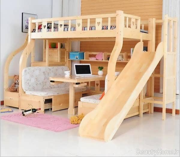 مدل تخت خواب شیک و کاربردی برای اتاق کودک