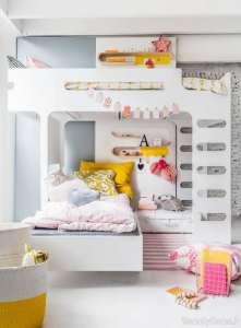 مدل تخت خواب سفید برای کودک