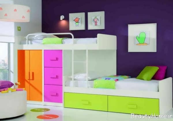 مدل تخت دو طبقه برای کودک
