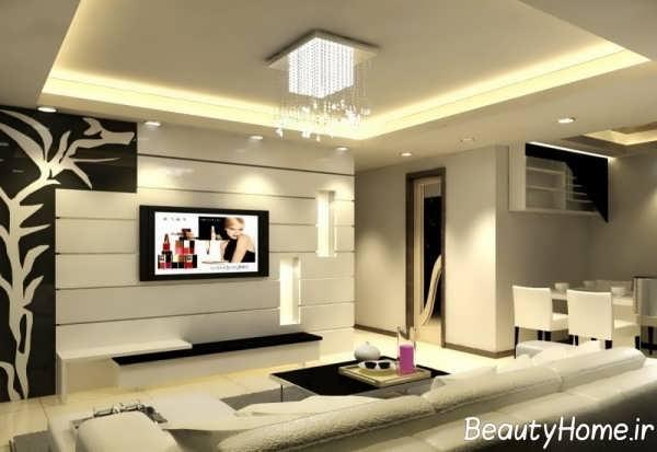 طراحی شیک اتاق پذیرایی