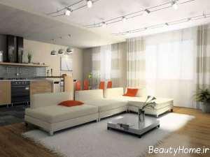 طراحی متفاوت اتاق نشیمن خانه های امروزی