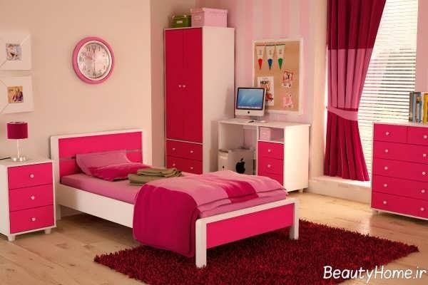 دکوراسیون اتاق خواب تک نفره دخترانه