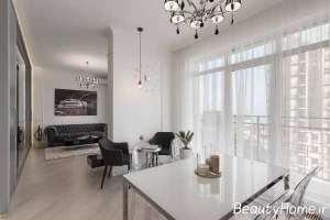 طراحی شیک فضای داخلی آپارتمان کوچک